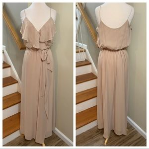 Nouvelle by Amsale N319 in color sand  size small